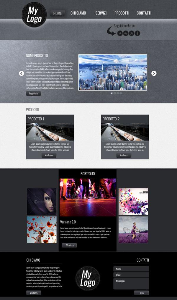 Template web - texture Fabric con Photoshop