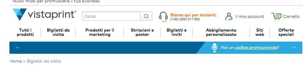 Stampa online menu