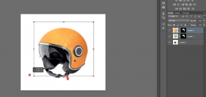 Casco arancio Photoshop